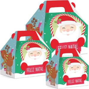 Caixa Maleta Kids Natal Divertida 10 unidades - Natal Cromus - Rizzo Embalagens e Festas