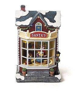 Cenário Loja Nevada Noel com Luz Som e Movimento Bivolt 25cm - 01 unidade - Cromus Natal - Rizzo Embalagens