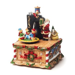 Bibelô Musical a Corda Máquina de Costura com Noel - 01 unidade - Cromus Natal - Rizzo Embalagens