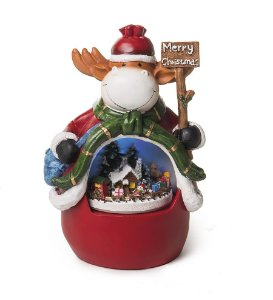 Bibelô Musical a Pilha Rena Merry Christmas 20cm - 01 unidade - Cromus Natal - Rizzo Embalagens