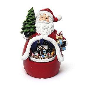 Bibelô Musical a Pilha Noel com Família 20cm - 01 unidade - Cromus Natal - Rizzo Embalagens