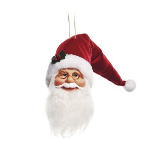 Rosto Noel com Led 40cm - 01 unidade - Cromus Natal - Rizzo Embalagens
