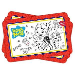 Lembrancinha para colorir Festa Luccas Neto - 08 unidades - Regina Festas - Rizzo Festas