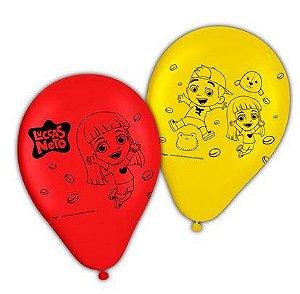 "Balão Latex 9"" Festa Luccas Neto - 25 unidades - Regina Festas - Rizzo Festas"