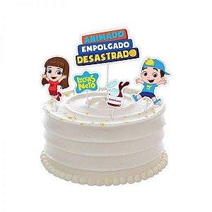 Topo de bolo Festa Luccas Neto - 05 unidades - Regina Festas - Rizzo Festas