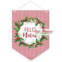 Placa Decorativa Para Porta - Cromus Natal - Rizzo Embalagens