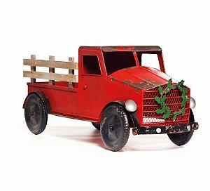 Caminhão de Metal Decoração Natal 30cm x 30cm x 75cm - Natal Cromus - Rizzo embalagens
