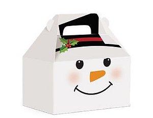 Caixa Maleta Kids Boneco de Neve - 10 unidades - Natal Cromus - Rizzo Embalagens e Festas