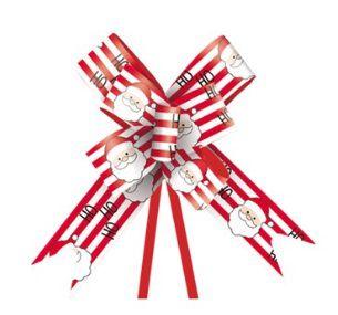 Laço Pronto Noel Ho Ho Ho - 10 unidades - Cromus Natal - Rizzo Embalagens e Festas