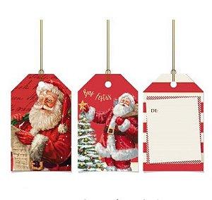 Tags De Para com cordão - Noite Mágica - 12 unidades - Cromus Natal - Rizzo Embalagens