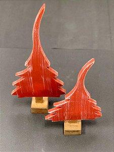 Enfeite de Mesa Pinheiro Longo MDF - 01 unidade - Cromus Natal - Rizzo Embalagens