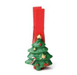 Prendedor Pinheiro - 06 unidades - Cromus Natal - Rizzo Embalagens