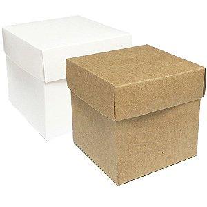 Caixa Cubo Para Presente BC/KF  - 10 unidades - ASSK - Rizzo Embalagens