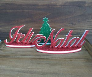 Kit Enfeite de Mesa em EVA - Feliz Natal 3 pçs - Cromus Natal - Rizzo Embalagens