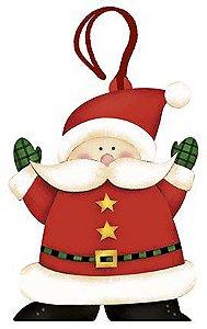 Tag de MDF Papai Noel 8,4cm - 01 unidade - Litoarte - Rizzo Embalagens
