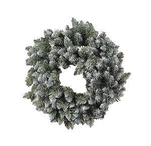 Guirlanda com Galhos Nevados 40cm - 01 unidade - Cromus Natal - Rizzo Embalagens