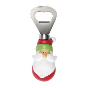 Abridor de Garrafa Noel 10cm - 01 unidade - Cromus Natal - Rizzo Embalagens