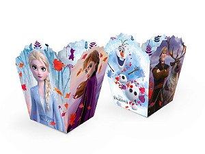 Cachepot Pequeno Festa Frozen 2 - 08 unidades - Regina - Rizzo Festas