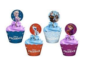 Kit para Cupcake Sortido Festa Frozen 2 - 12 unidades - Regina - Rizzo Festas
