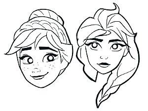 Máscara de Pintar Festa Frozen 2 - 6 unidades - Regina - Rizzo Festas