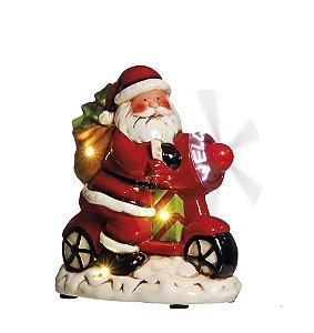Noel em Bicicleta com Hélice com Luz e Movimento 20cm - 01 unidade - Cromus Natal by  Cecília Dale - Rizzo Embalagens