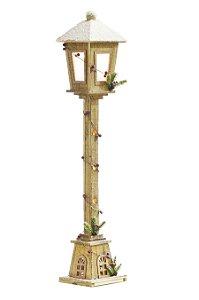 Poste de Luz com Frutas Nevado com LED 1m - 01 unidade - Cromus Natal - Rizzo Embalagens