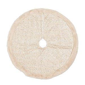 Saia de Árvore Nude com Borda de Pelúcia 70cm - 01 unidade - Cromus Natal - Rizzo Embalagens