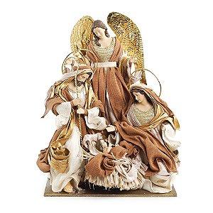 Sagrada Família em Tecido 45cm - 01 unidade - Cromus Natal - Rizzo Embalagens