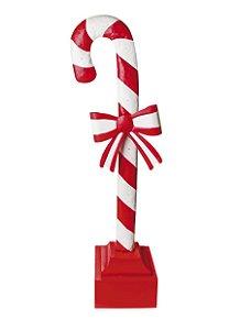 Placa Decorativa com Led Candy Cane 120cm - 01 unidade - Cromus Natal - Rizzo Embalagens
