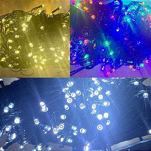 Cordão Led Multifunções Fio Verde 127V 30 metros - Natal Rizzo Embalagens