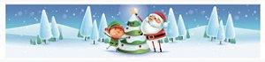Cinta para Mini Panetone Noel Árvore 05 unidades - Erika Melkot - Rizzo Embalagens