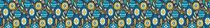 Cinta para Panetone G Bolas Azuis 03 unidades - Erika Melkot - Rizzo Embalagens