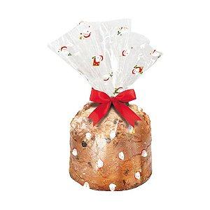 Saco para Panetone 500g Super Noel - 100 unidades - Cromus - Rizzo Embalagens e Festas