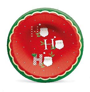 Petisqueira Boas Festas 18cm - 08 unidades - Cromus Natal - Rizzo Embalagens