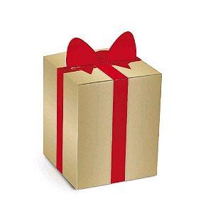 Caixa Panetone Pop Up Laço G - 10 unidades - Cromus Natal - Rizzo Embalagens