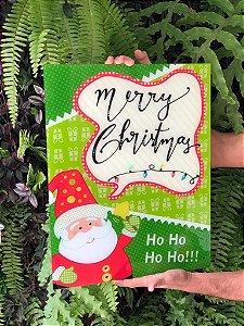 Quadro de Avisos em Vidro Papai Noel HOHOHO - 01 unidade - Cromus Natal - Rizzo Embalagens