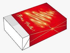 Caixa Divertida para 6 doces Boas Festas Ref. 1147 - 10 unidades - Erika Melkot Rizzo Embalagens
