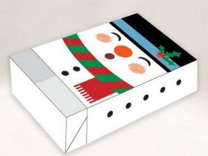 Caixa Divertida Boneco de Neve Ref. 721 - 6 doces com 10 un. Erika Melkot Rizzo Embalagens