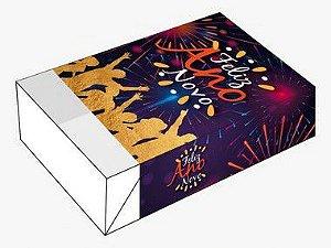 Caixa Divertida para 6 doces Ano Novo Ref. 1154 - 10 unidades - Erika Melkot Rizzo Embalagens