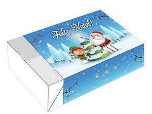 Caixa Divertida para 6 doces Duende e Noel Ref. 722 - 10 unidades - Erika Melkot Rizzo Embalagens
