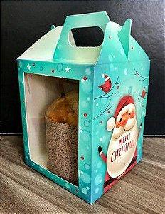 Caixa Panetone Merry Christmas Ref. 1190 - 03 unidades - Erika Melkot Rizzo Embalagens