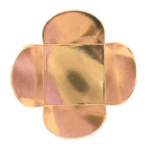 Forminha para Doces 4 Pétalas (4cm x 4cm x 3cm) Rose Gold 50 unidades Assk Rizzo Embalagens