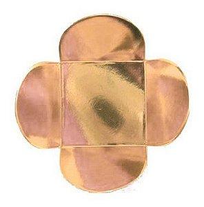 Forminha para Doces 4 Pétalas (3,5cm x 3,5cm x 2,5cm) Rose Gold 50 unidades Assk Rizzo Embalagens