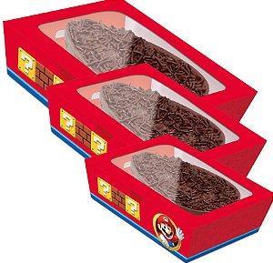 Caixa Practice para Meio Ovo Super Mario - 06 unidades - Cromus Páscoa