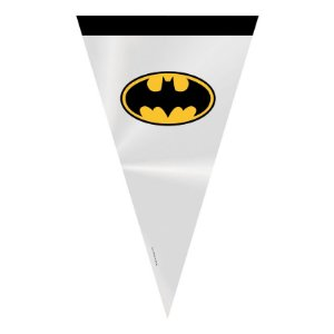 Cone Festa Batman 18x30cm - 50 unidades - Cromus - Rizzo Embalagens