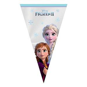 Cone Festa Frozen - 18x30cm - 50 unidades - Cromus - Rizzo