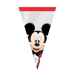 Cone Festa Mickey - 18x30cm - 50 unidades - Cromus - Rizzo