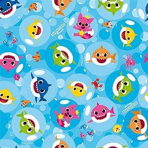 Folha para Ovos de Páscoa Baby Shark 69x89cm - 05 unidades - Páscoa Baby Shark Rizzo Embalagens