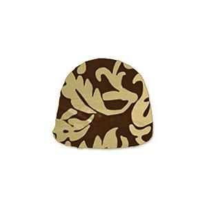 Papel Chumbo 8x7,8cm - Adamascado Marrom Ouro - 300 folhas - Cromus - Rizzo Embalagens