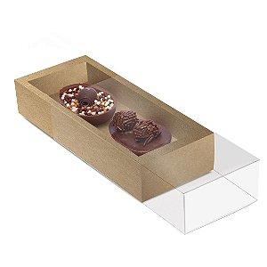 Caixa Luva para Dois Meio Ovos 50g Páscoa Kraft - 10 unidades - 18,5x7,5x3,5cm - Cromus Profissional - Rizzo Embalagens